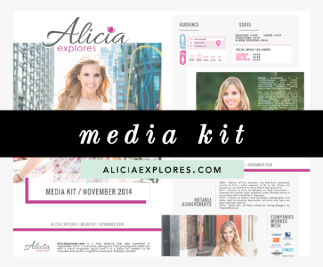 Media Kit Design: Alicia Explores