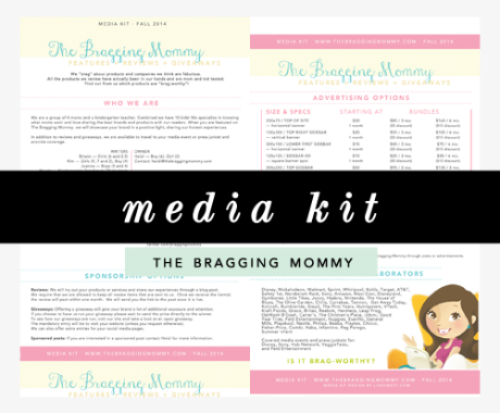 Media Kit Design: The Bragging Mommy