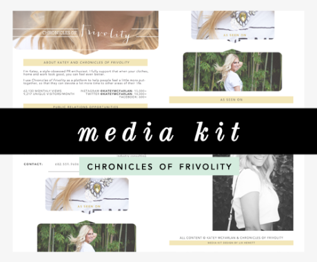 Media Kit Design: Chronicles of Frivolity