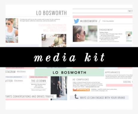 Media Kit Design: Lo Bosworth