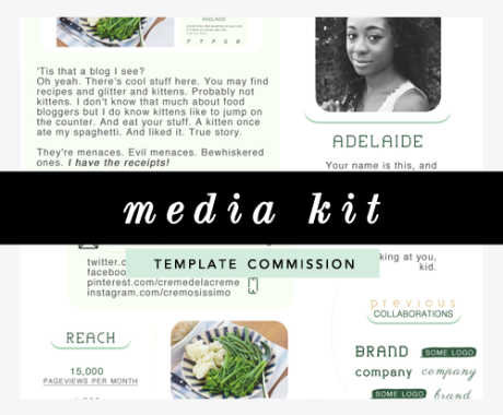Media Kit Design: Template Commission
