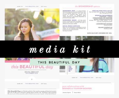 Media Kit Design: This Beautiful Day Blog