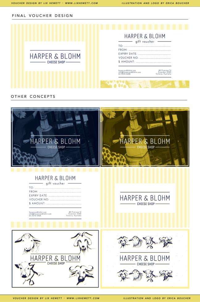 Gift Certificate Design for Harper and Blohm by Lix Hewett