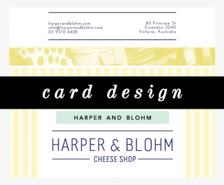 Gift Card Design: Harper and Blohm