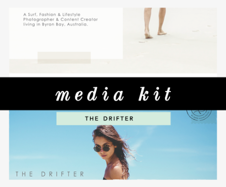 Media Kit Design: The Drifter Travel Blog