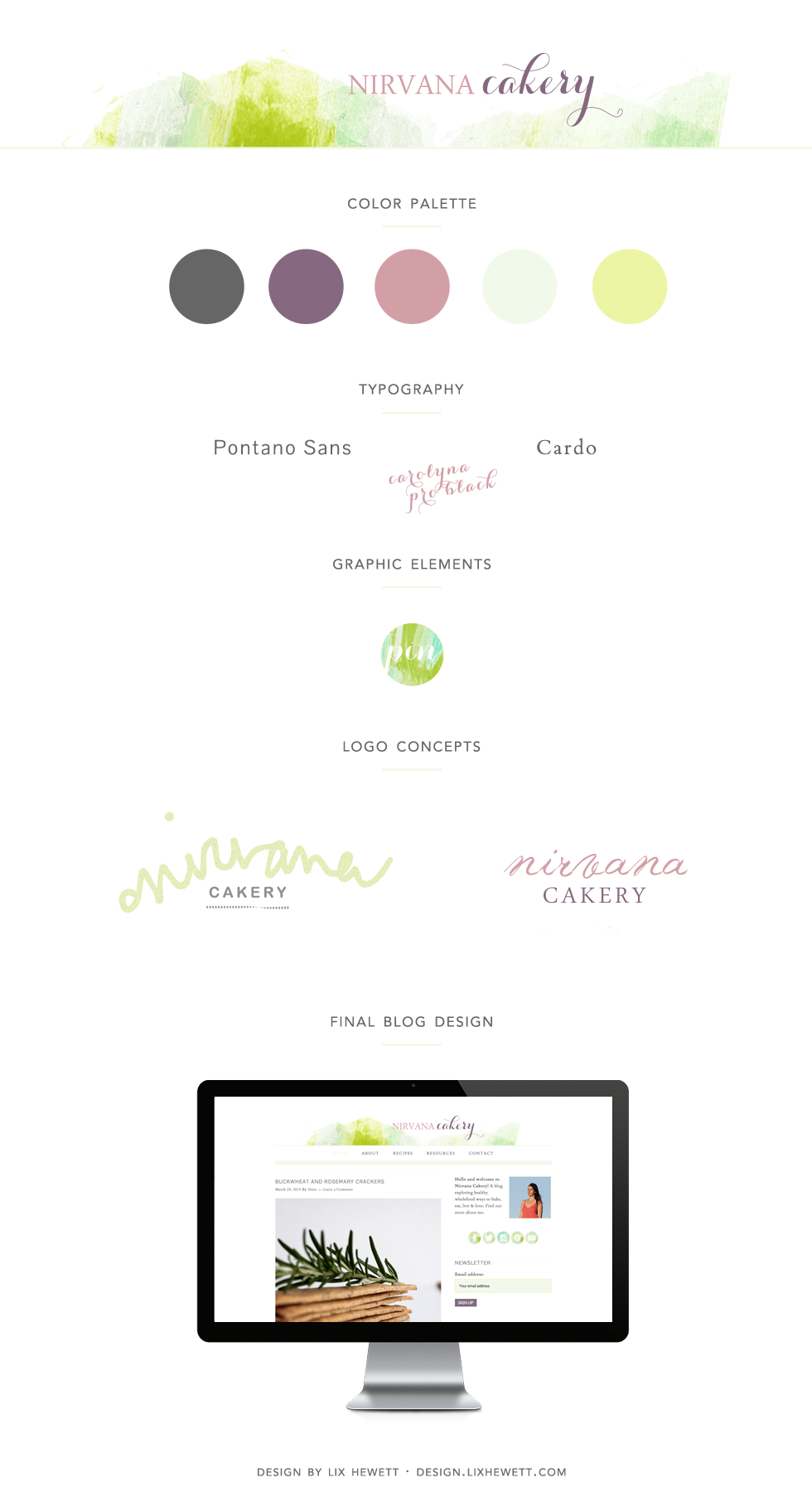 Branding + Blog Design for WordPress Food Blog