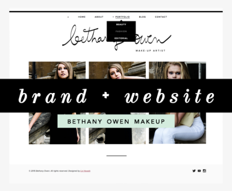 Brand + Website Design: Bethany Owen Makeup