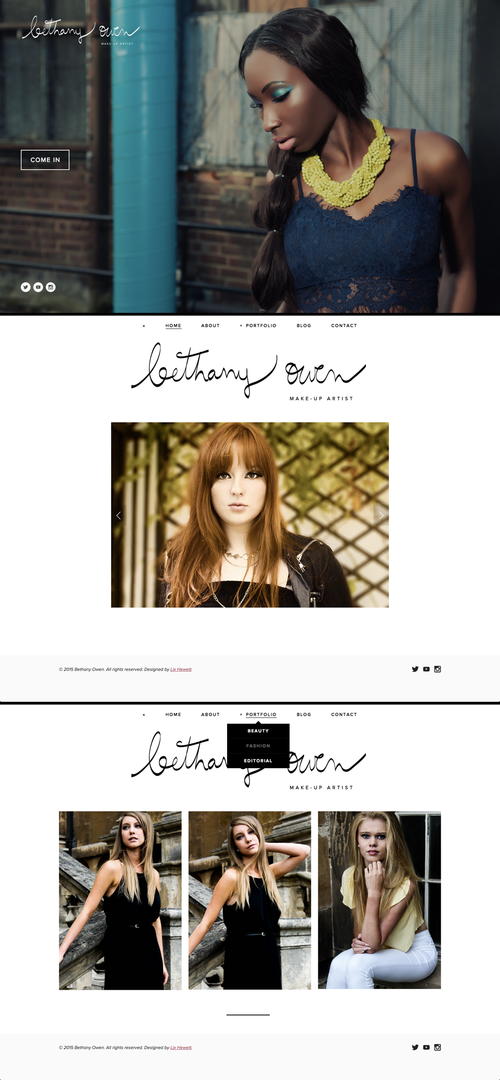 Brand + Website Design / Squarespace Portfolio / Bethany Owen Makeup / by Lix Hewett